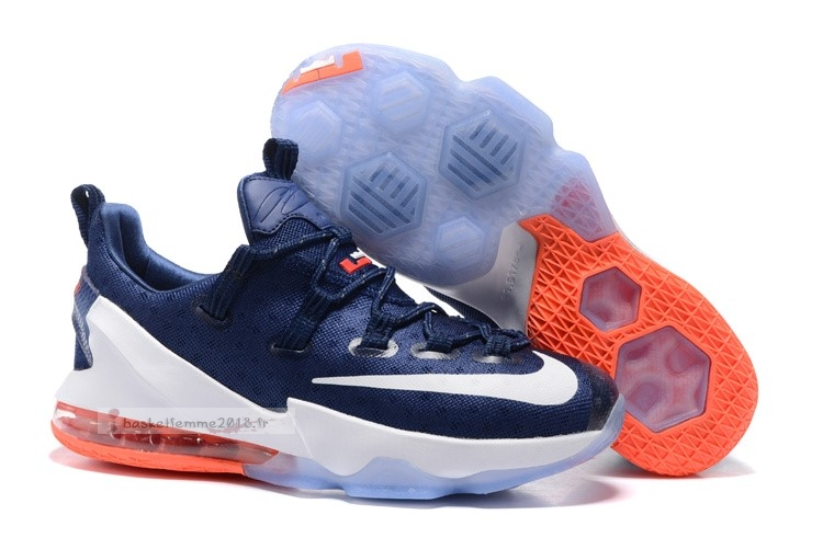 Nike Lebron Xiii 13 Low Marine Orange Chaussure de Basket