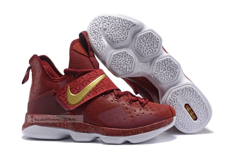 Nike Lebron Xiv 14 Rouge Or Chaussure de Basket