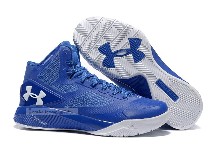 Under Armour Clutchfit Drive 2 Bleu Blanc Chaussure de Basket