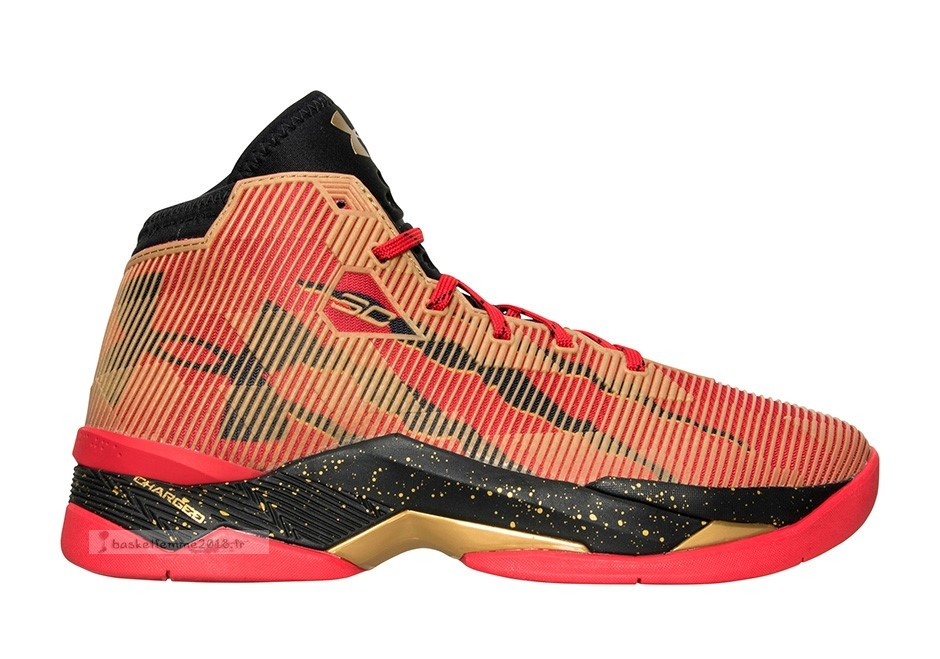 "Under Armour Curry 2.5 ""49Ers"" Orange Chaussure de Basket"