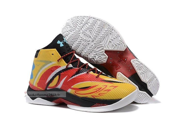 "Under Armour Curry 2.5 ""Sun Wukong"" Jaune Chaussure de Basket"