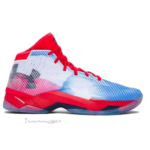 "Under Armour Curry 2.5 ""Texas"" Blanc Rouge Chaussure de Basket"