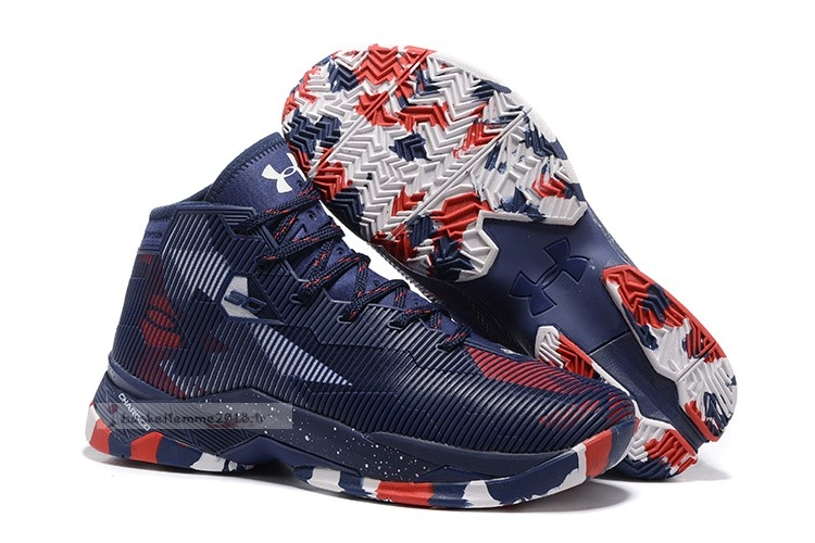 "Under Armour Curry 2.5 ""Usa"" Marine Rouge Blanc Chaussure de Basket"