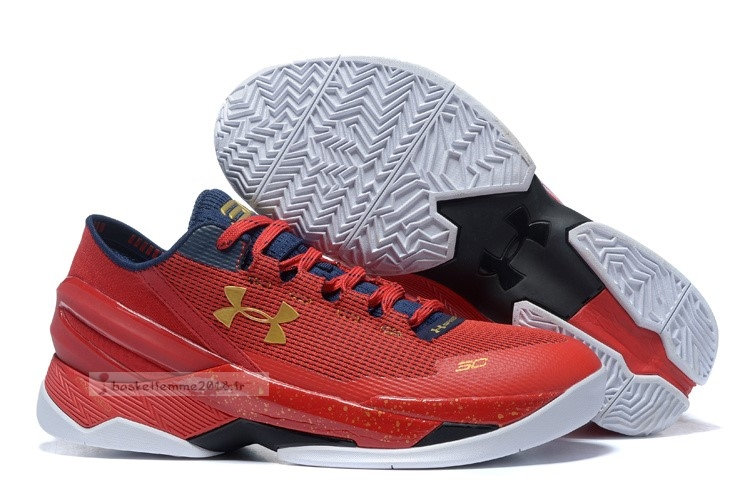 Under Armour Curry 2 Low Rouge Or Chaussure de Basket