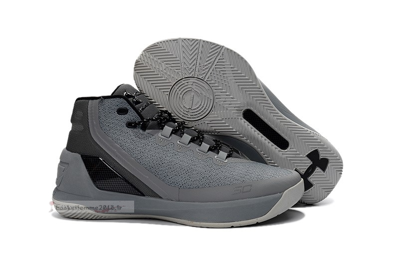 Under Armour Curry 3 Gris Noir Chaussure de Basket