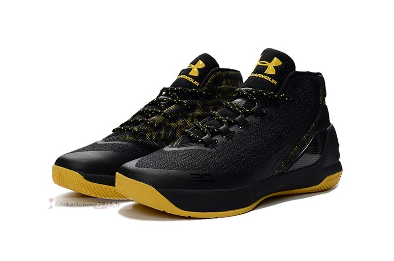 Under Armour Curry 3 Noir Marron Chaussure de Basket