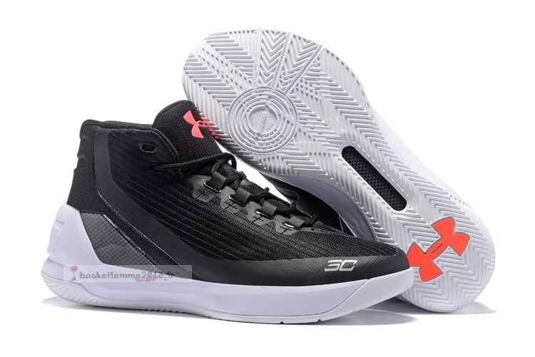 Under Armour Curry 3 Noir Rose Blanc Chaussure de Basket