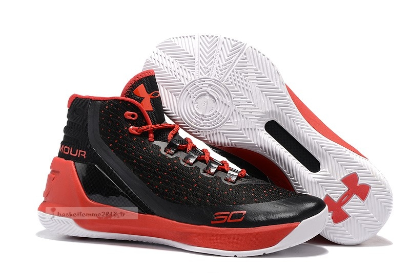 Under Armour Curry 3 Noir Rouge Chaussure de Basket