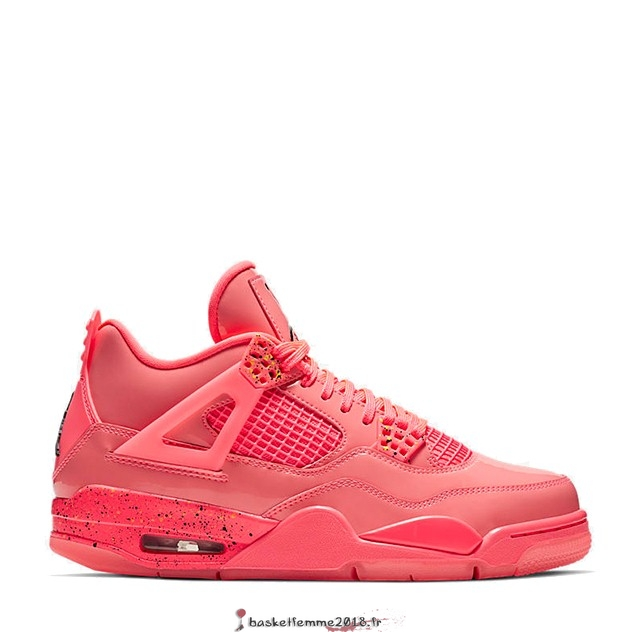"Air Jordan 4 Femme ""Hot Punch"" Rouge (AQ9128-600) Chaussure de Basket"