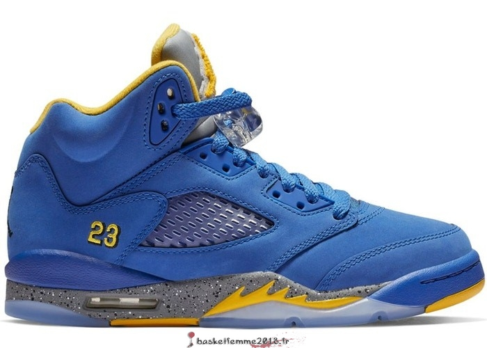 Air Jordan 5 Retro (GS) Laney Bleu (CI3287-400) Chaussure de Basket