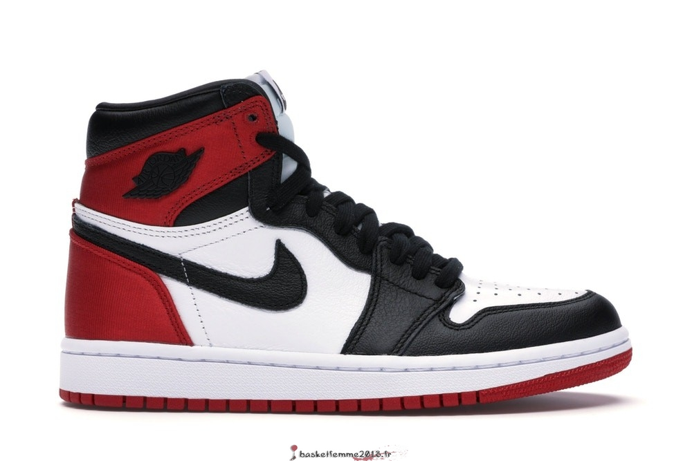 "Air Jordan 1 Femme High Retro ""Satin Black Toe"" Noir Rouge Blanc (CD0461-016) Chaussure de Basket"