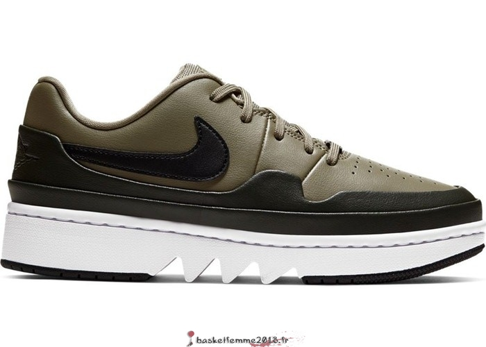 "Air Jordan 1 Femme Low Jester XX ""Laced Trooper"" Olive (CI7815-201) Chaussure de Basket"
