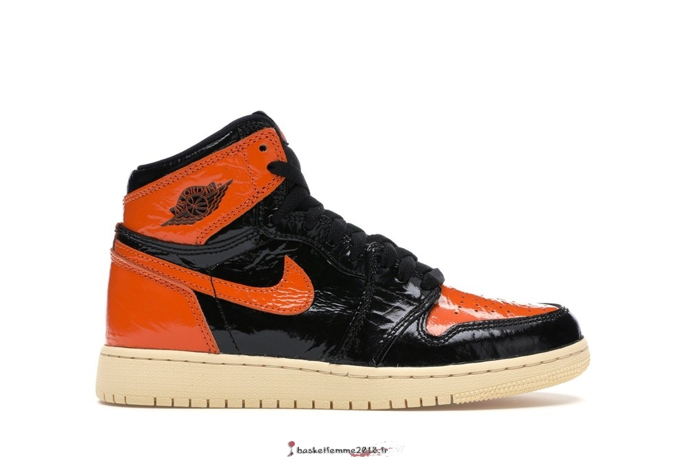"Air Jordan 1 High Retro (GS) ""Shattered Backboard 3.0"" Noir Orange (575441-028) Chaussure de Basket"