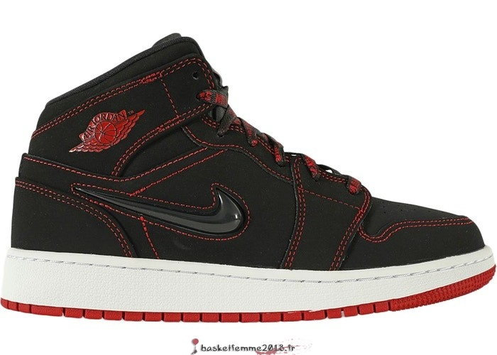 "Air Jordan 1 Mid (GS) Se ""Come Fly With Me"" Noir Rouge (CU6617-062) Chaussure de Basket"