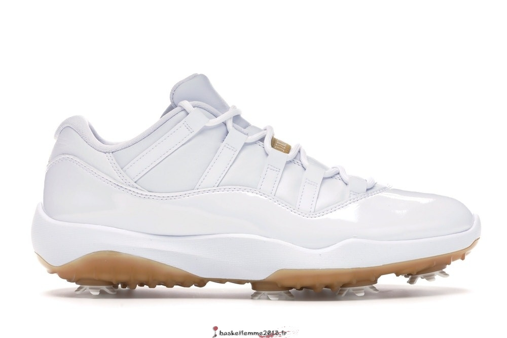 "Air Jordan 11 Homme Low Retro Golf ""Metallic Gold"" Blanc (AQ0963-102) Chaussure de Basket"