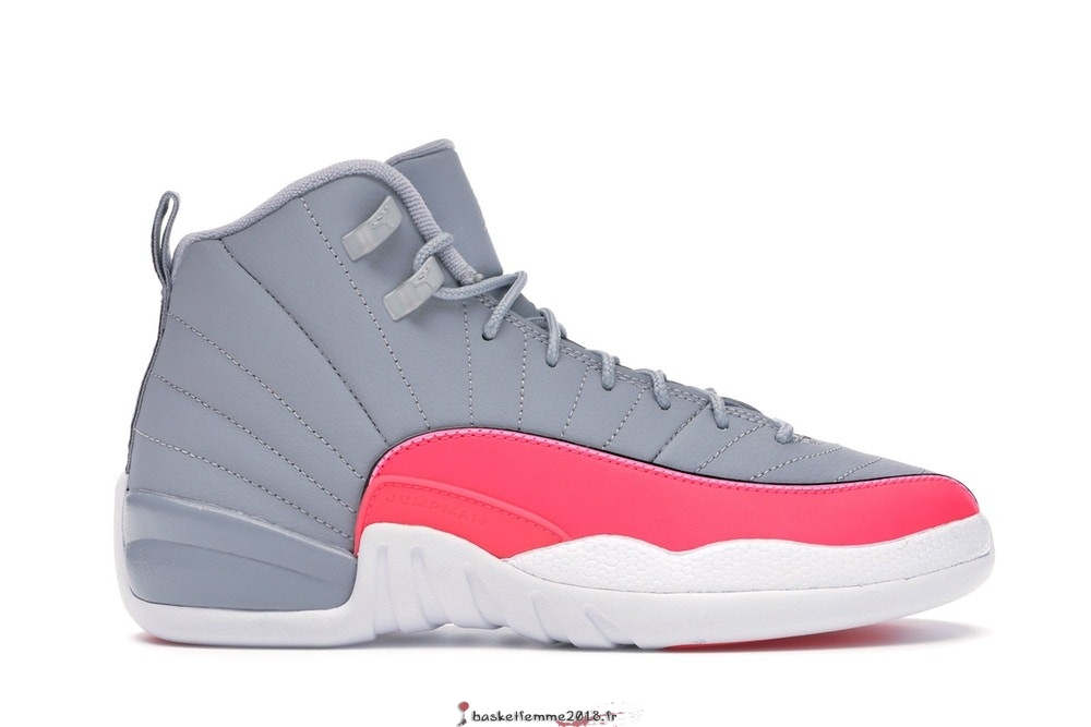 Air Jordan 12 Retro (GS) Gris Rose (510815-060) Chaussure de Basket