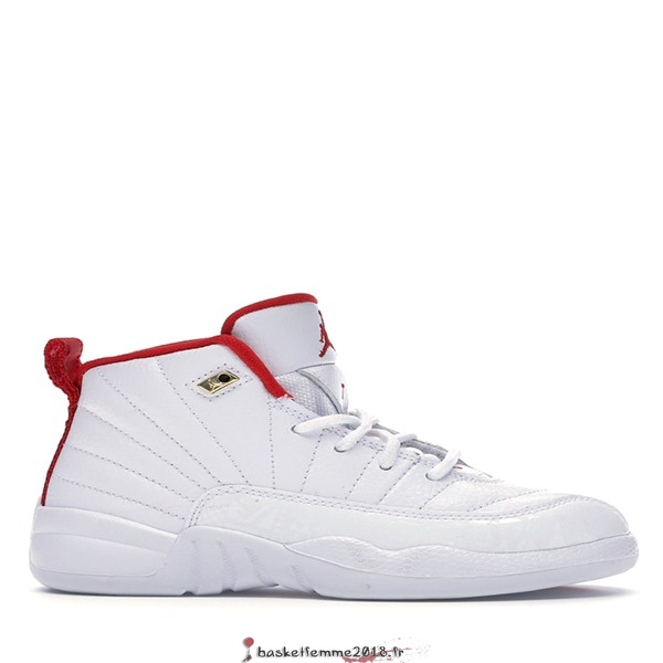 "Air Jordan 12 Retro (PS) ""Fiba"" 2019 Blanc (151186-107) Chaussure de Basket"