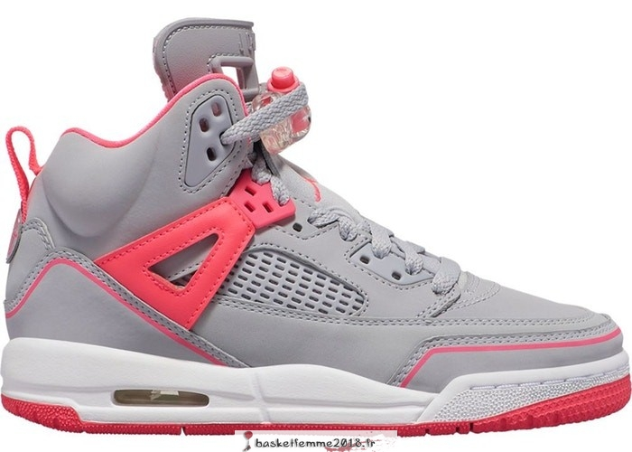 Air Jordan Spizike (GS) Gris Rose (535712-060) Chaussure de Basket