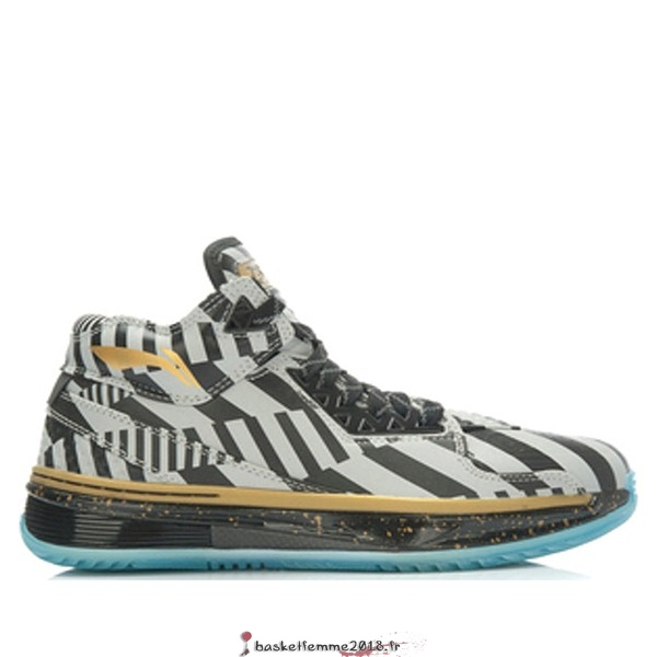 "Li Ning Way Of Wade 2 Homme ""Birthday"" Noir Argent Or (ABAH017-17) Chaussure de Basket"