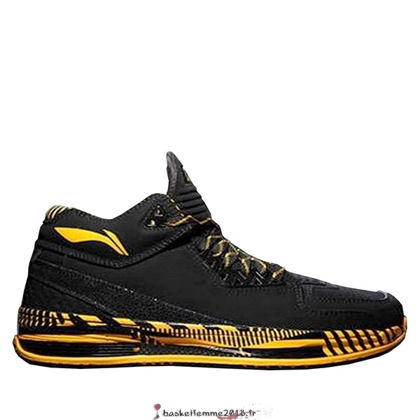 "Li Ning Way Of Wade 2 Homme ""Caution"" Noir Jaune (ABAH017-6) Chaussure de Basket"