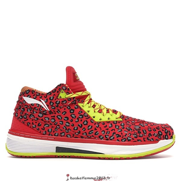 "Li Ning Way Of Wade 2 Homme ""Rouge Leopard"" Rouge (ABAH017-14) Chaussure de Basket"