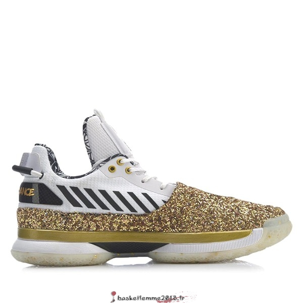 "Li Ning Way Of Wade 7 Homme ""One Last Dance Away"" Blanc Or (ABAN079-37) Chaussure de Basket"
