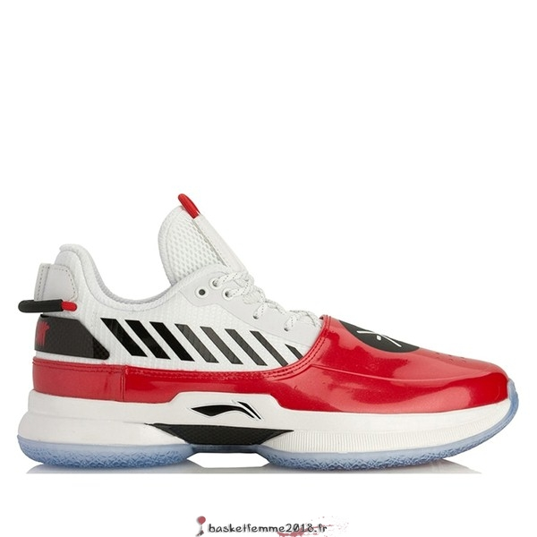 "Li Ning Way Of Wade 7 Homme ""Overtown"" Rouge Blanc (ABAN079-2) Chaussure de Basket"