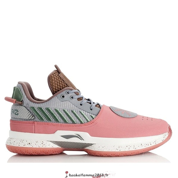 "Li Ning Way Of Wade 7 Homme ""Satori"" Blanc Rose (ABAN079-11) Chaussure de Basket"