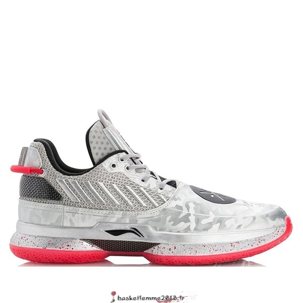 "Li Ning Way Of Wade 7 Homme ""Veterans Day"" Argent Gris (ABAN079-3) Chaussure de Basket"