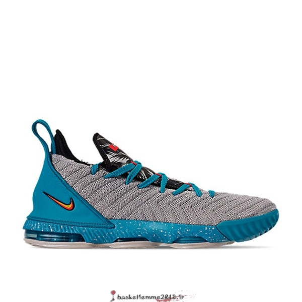 "Nike Lebron XVI 16 (GS) ""Tropical Beach"" Gris Bleu (AQ2465-076) Chaussure de Basket"