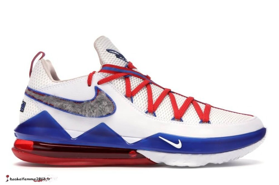 "Nike Lebron 17 Low ""Tune Squad"" Rouge Bianca (CD5007-100/CD5006-100) Chaussure de Basket"