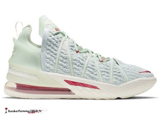 "Nike Lebron 18 ""Empire Jade"" Rouge Bianca (DB7644-002) Chaussure de Basket"