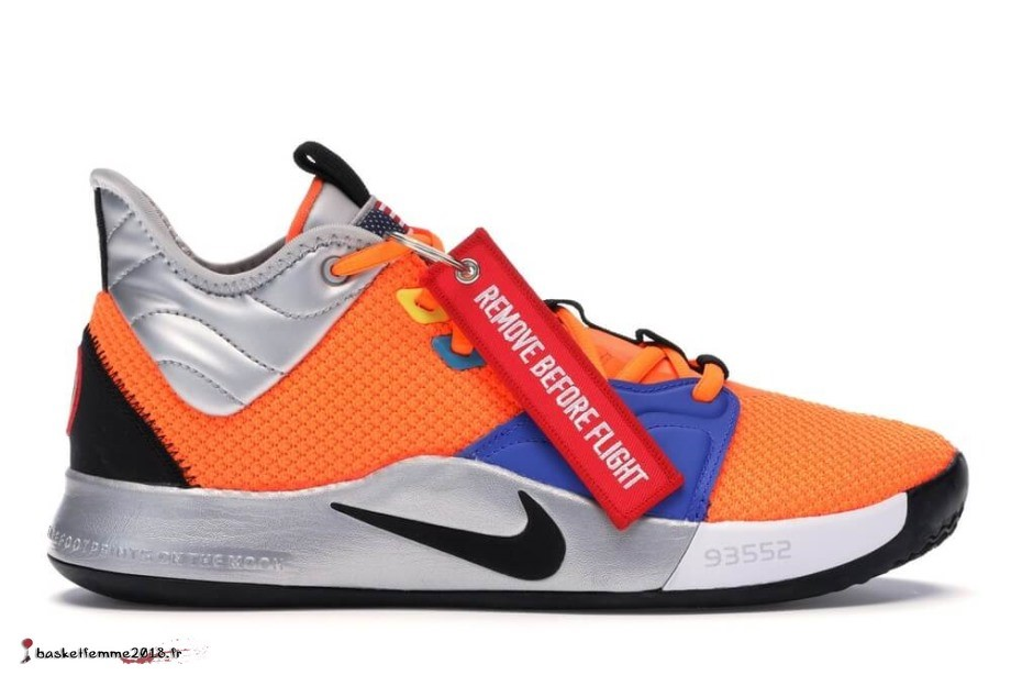 Nike Pg 3 Nasa Noir Orange (CI2666-800) Chaussure de Basket