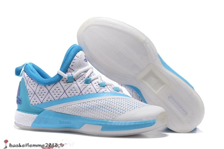 save off 46ce7 f5a9c Adidas Crazylight James Harden Homme Blanc Bleu Chaussure de Basket