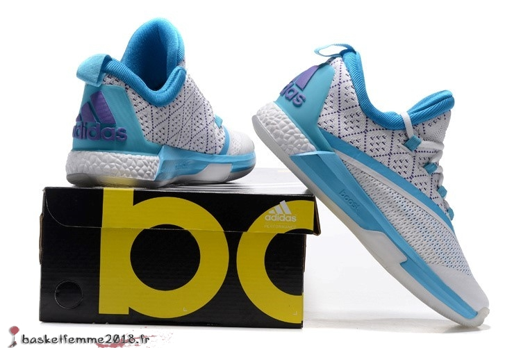 Adidas Crazylight James Harden Homme Blanc Bleu Chaussure de Basket