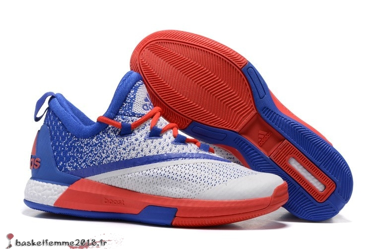 Adidas Crazylight James Harden Homme Blanc Bleu Orange Chaussure de Basket