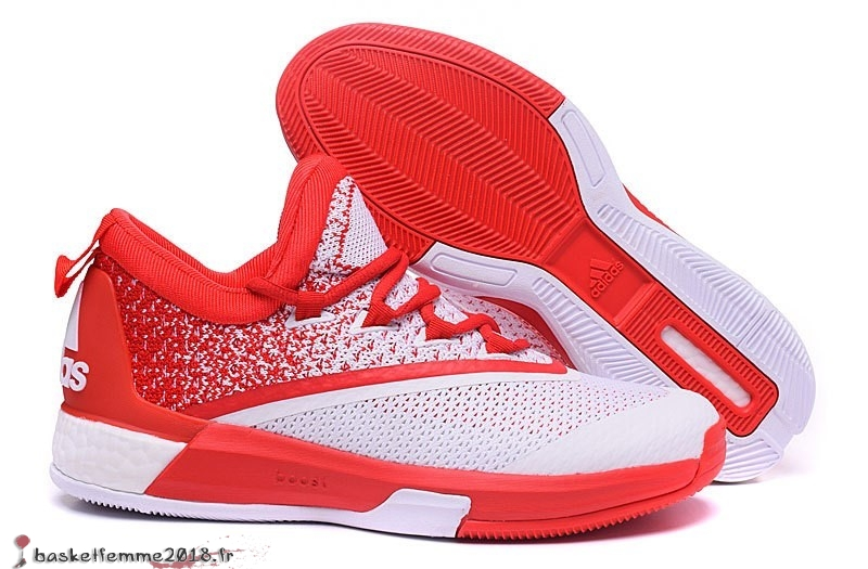 143d5d4e89 Adidas Crazylight James Harden Homme Blanc Rouge Chaussure de Basket ...