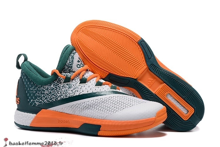 Adidas Crazylight James Harden Homme Blanc Vert Orange Chaussure de Basket