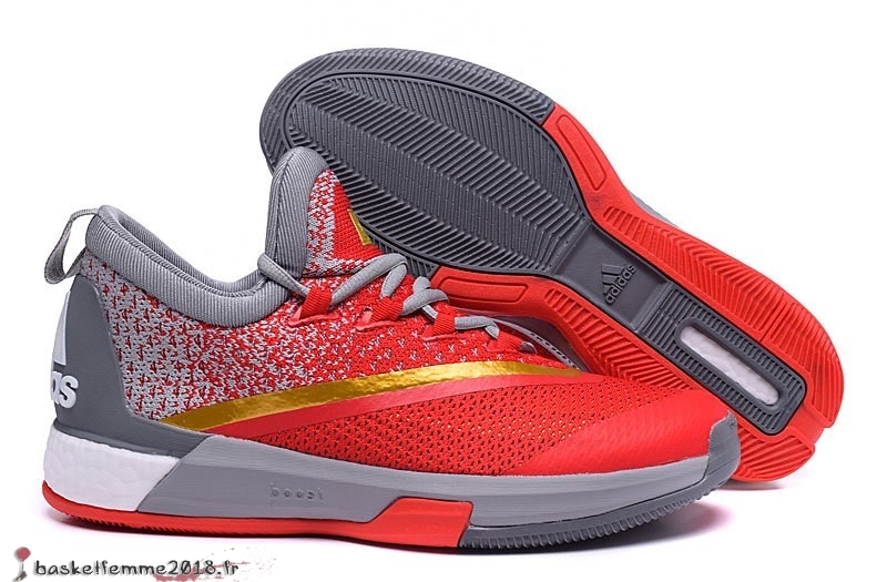 Adidas Crazylight James Harden Homme Rouge Gris Or Chaussure de Basket