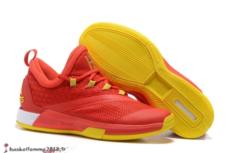 Adidas Crazylight James Harden Homme Rouge Jaune Chaussure de Basket