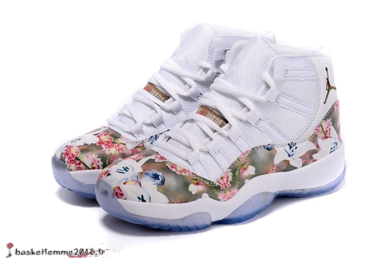 Air Jordan 11 Femme Multicolore Marron Chaussure de Basket