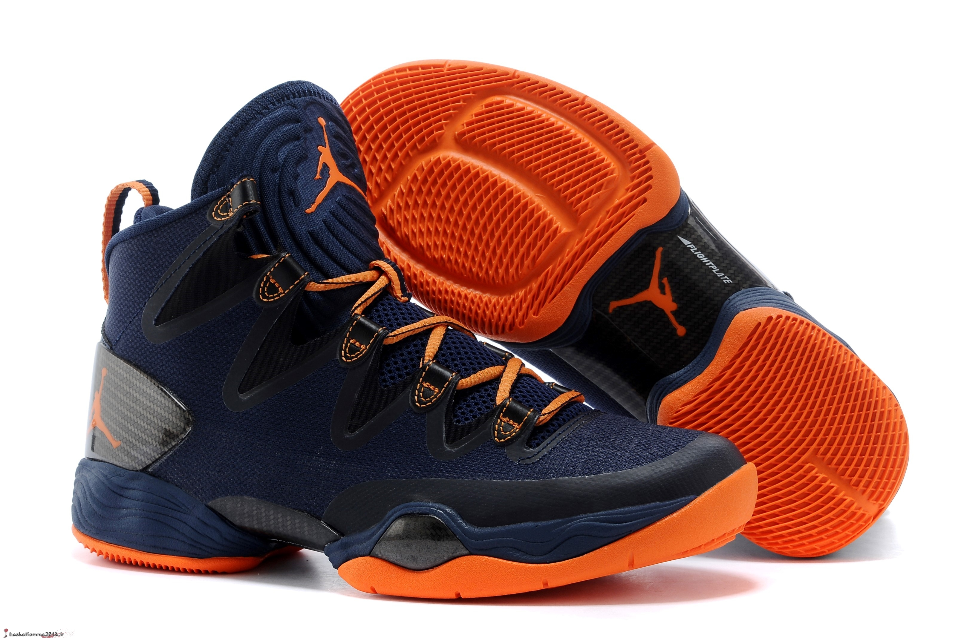 Air Jordan 28 Homme Bleu Orange Chaussure de Basket