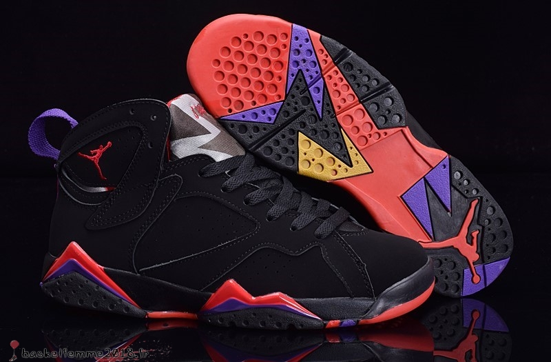 the best attitude aed14 e434b Air Jordan 7 Homme Pourpre Noir Orange Chaussure de Basket
