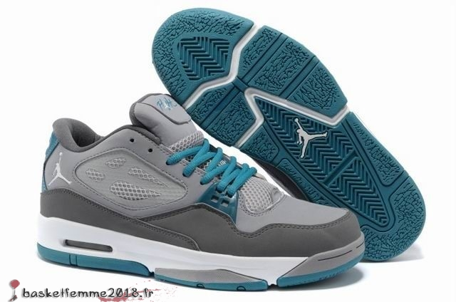 Air Jordan Flight Homme Gris Bleu Chaussure de Basket
