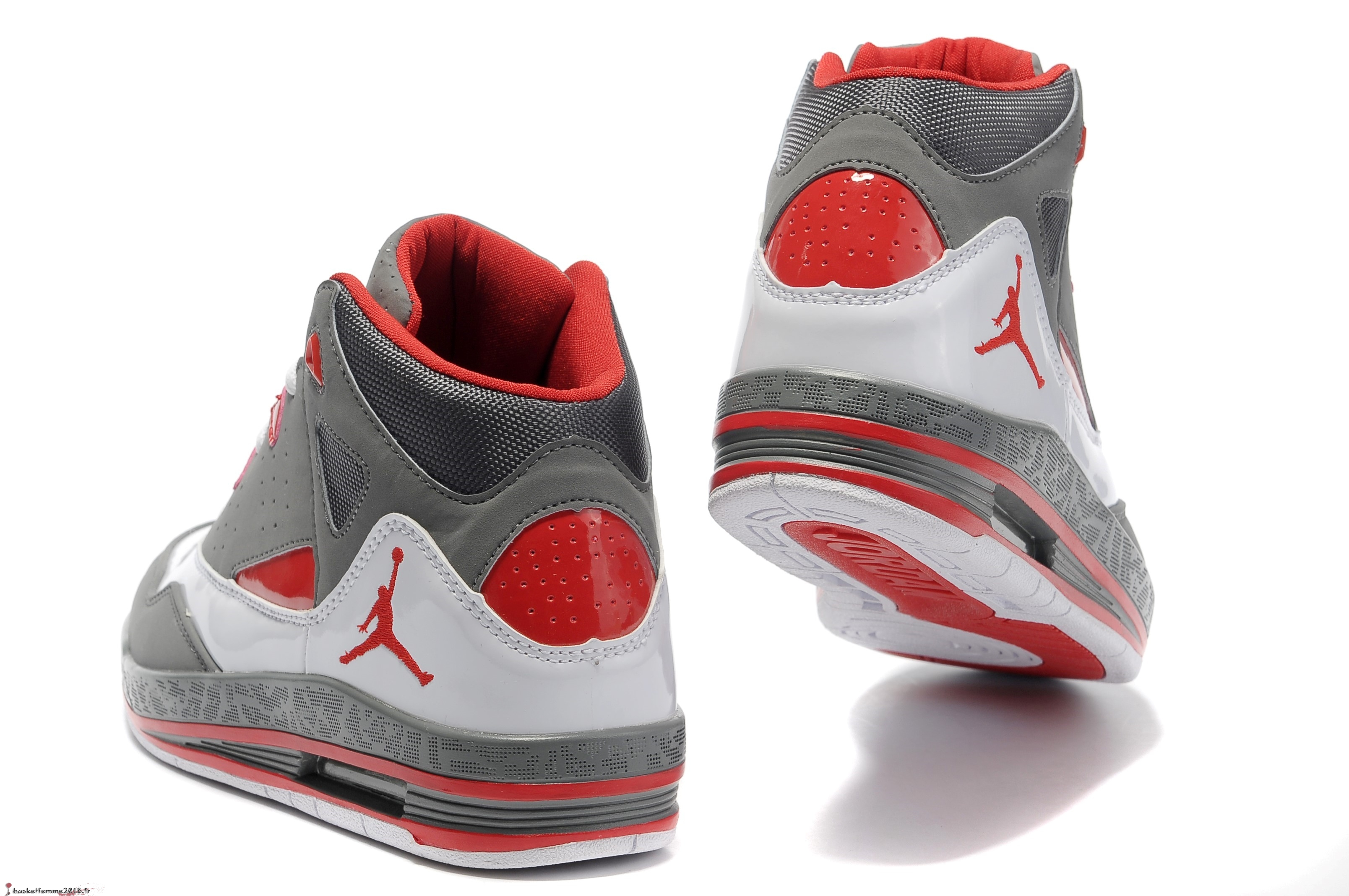 finest selection ea4dd a58cf ... discount code for air jordan jumpman team 2 gs homme gris rouge  chaussure de basket 27234
