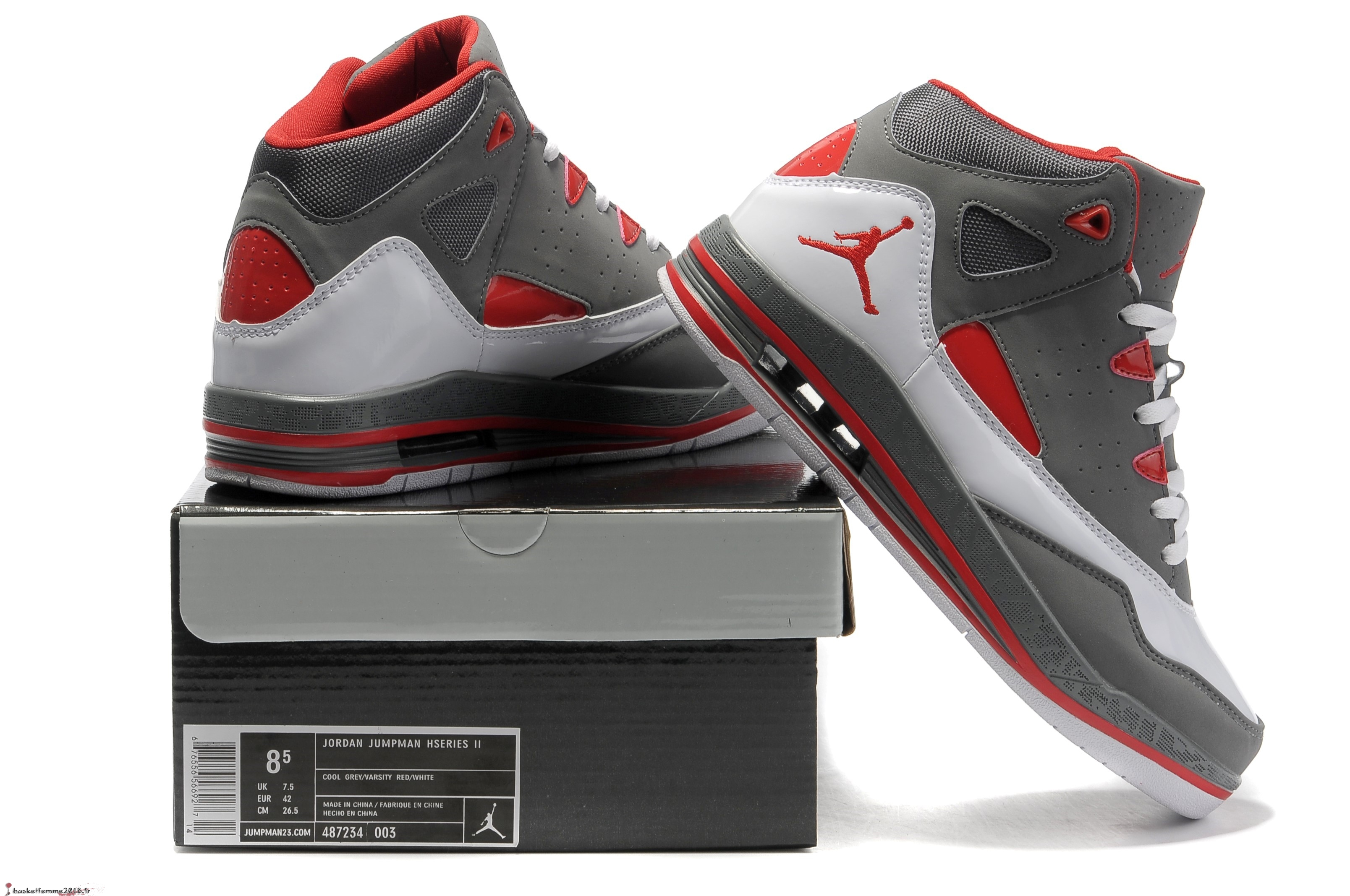 new arrival 362fc efdb9 ... discount code for air jordan jumpman team 2 gs homme gris rouge  chaussure de basket d1375