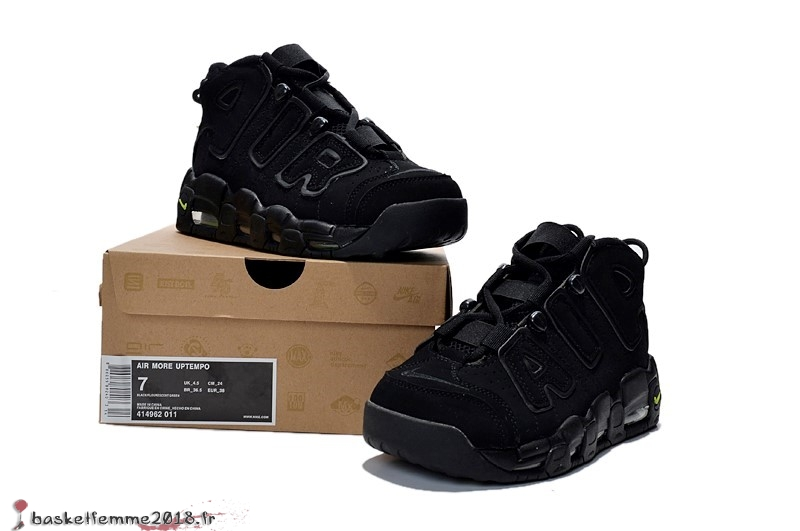 new product 11263 1a81b Nike Air More Uptempo Femme Noir Chaussure de Basket