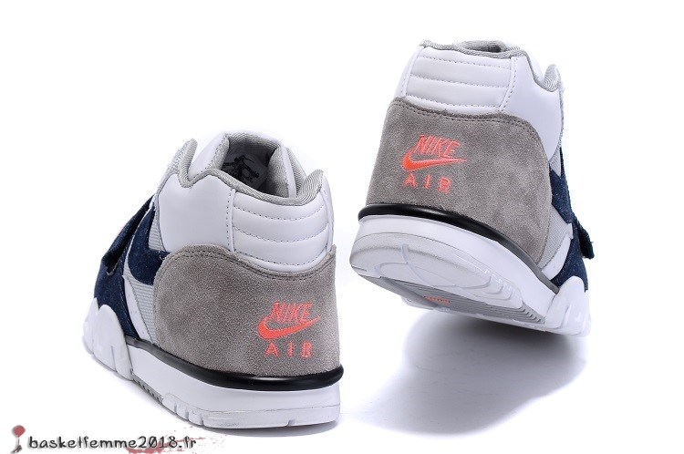 official photos d6ba0 0da6f Nike Air Trainer 1 Mid Homme Blanc Gris Chaussure de Basket en ligne