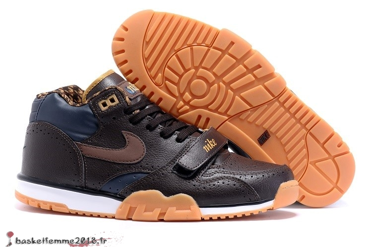 Nike Air Trainer 1 Mid Homme Noir Orange Chaussure de Basket