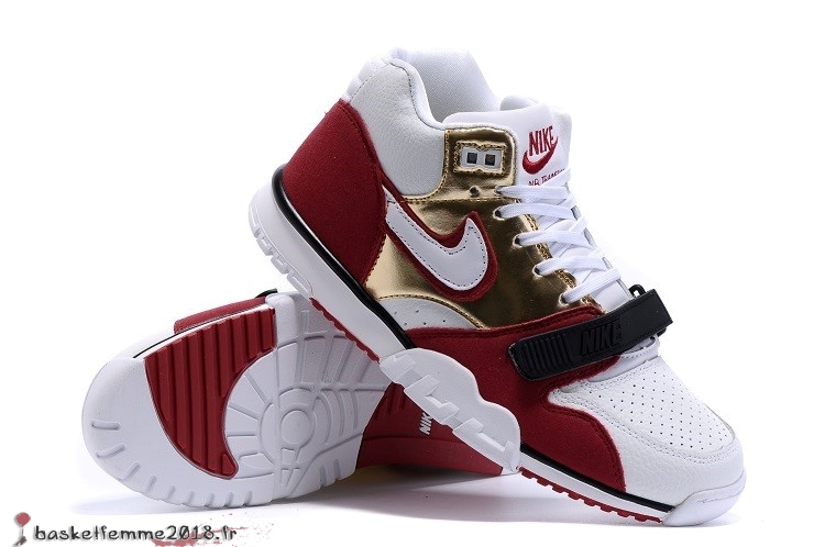 Nike Air Trainer 1 Mid Homme Rouge Blanc Chaussure de Basket